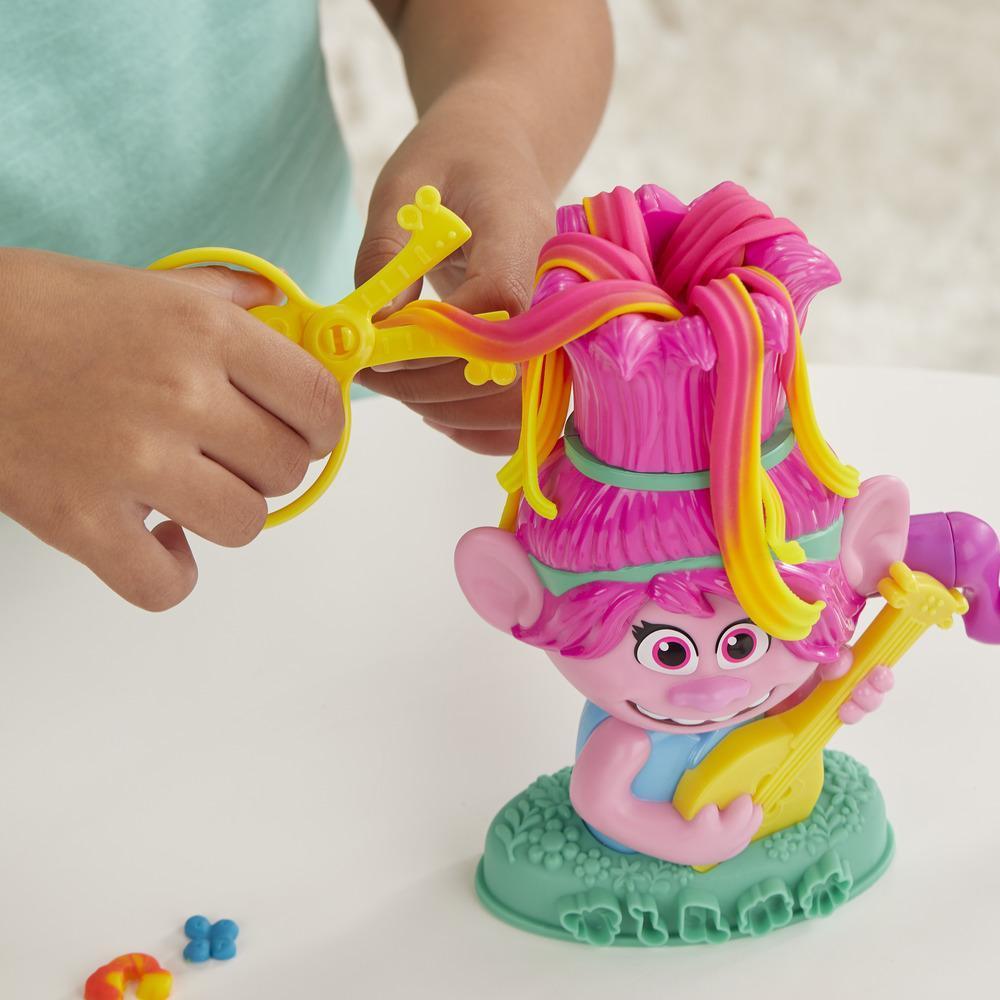 Play-Doh Trolls World Tour Frisierspaß Poppy, Styling-Spielzeug mit 6 Play-Doh Farben