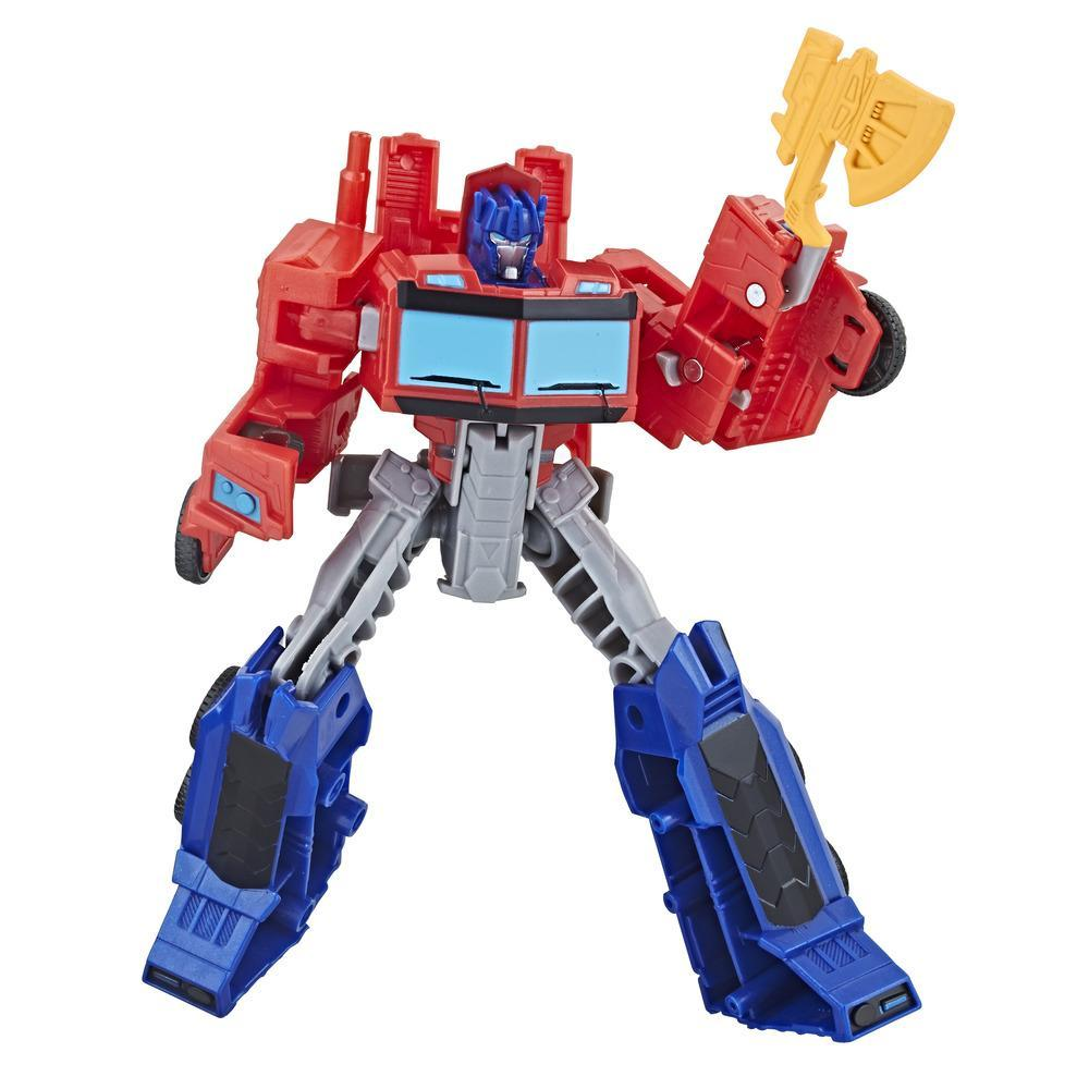 Transformers Cyberverse Action Attackers Commander Figur Optimus Prime