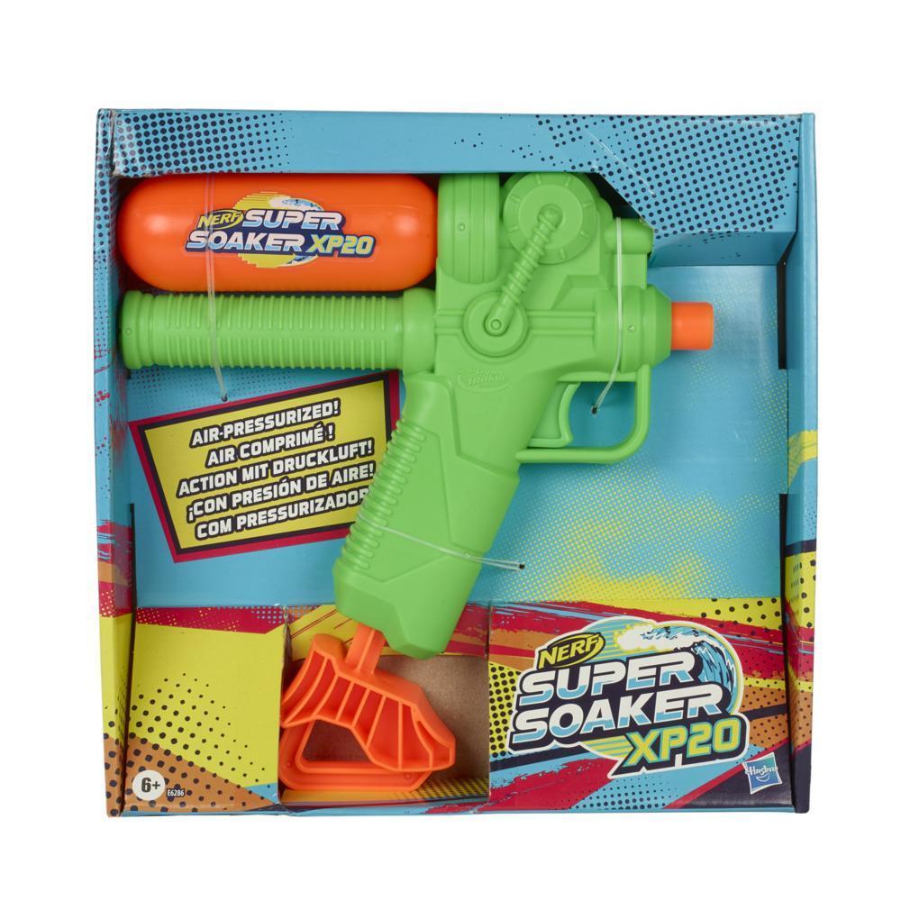 Nerf Super Soaker XP20 Wasserblaster – Wasser-Action mit Druckluft – abnehmbarer Tank – für Kinder, Teenager, Erwachsene