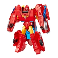 Transformers Cyberverse Action Attackers: Warrior Class Hot Rod Action Figure Toy