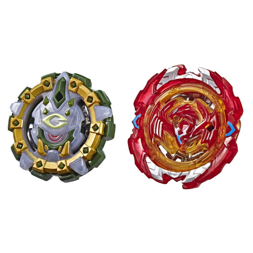 Beyblade Burst SlingShock Dual Packs Phoenix P4 and Cyclops C4