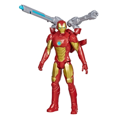 Marvel Avengers Titan Hero Serie Blast Gear Iron Man, 30 cm große Figur, mit Starter