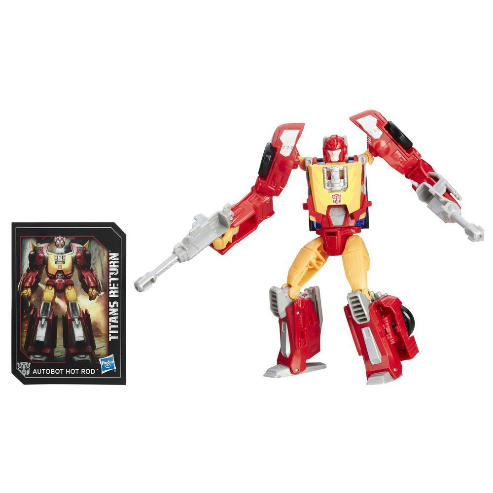 Transformers Generations Titans Return Deluxe Class Autobot Hot Rod & Firedrive