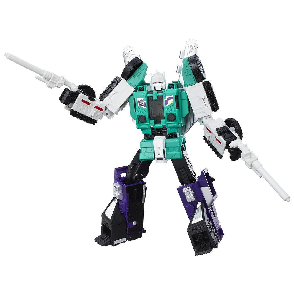 Transformers Generations Titans Return Leader Class Six Shot & Decepticon Revolver