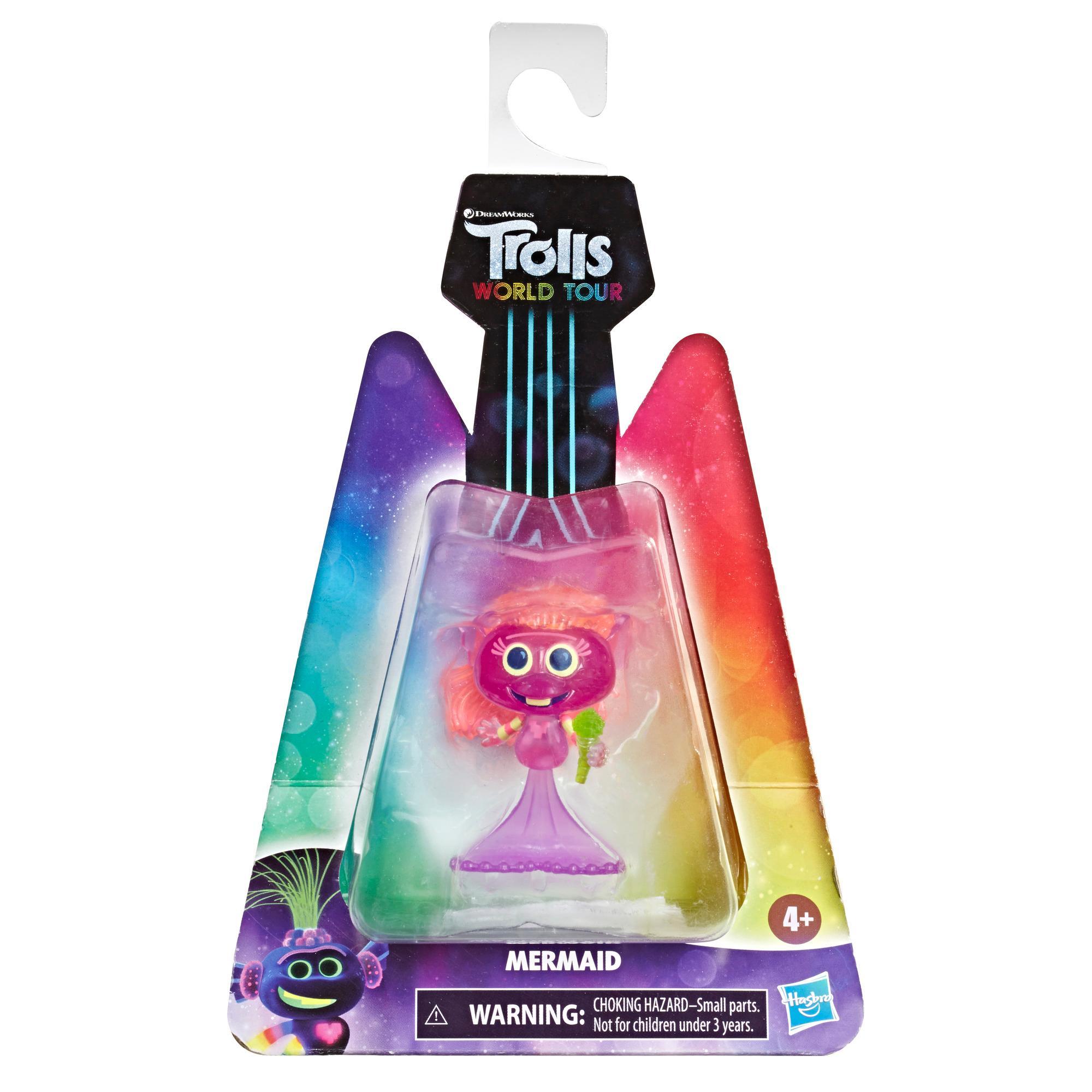 DreamWorks Trolls World Tour Meerjungfrau, Puppe mit Mikrofon, Spielzeug zum Film Trolls World Tour