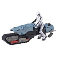 Star Wars Galaxy of Adventures First Order Driver and Treadspeeder Toy