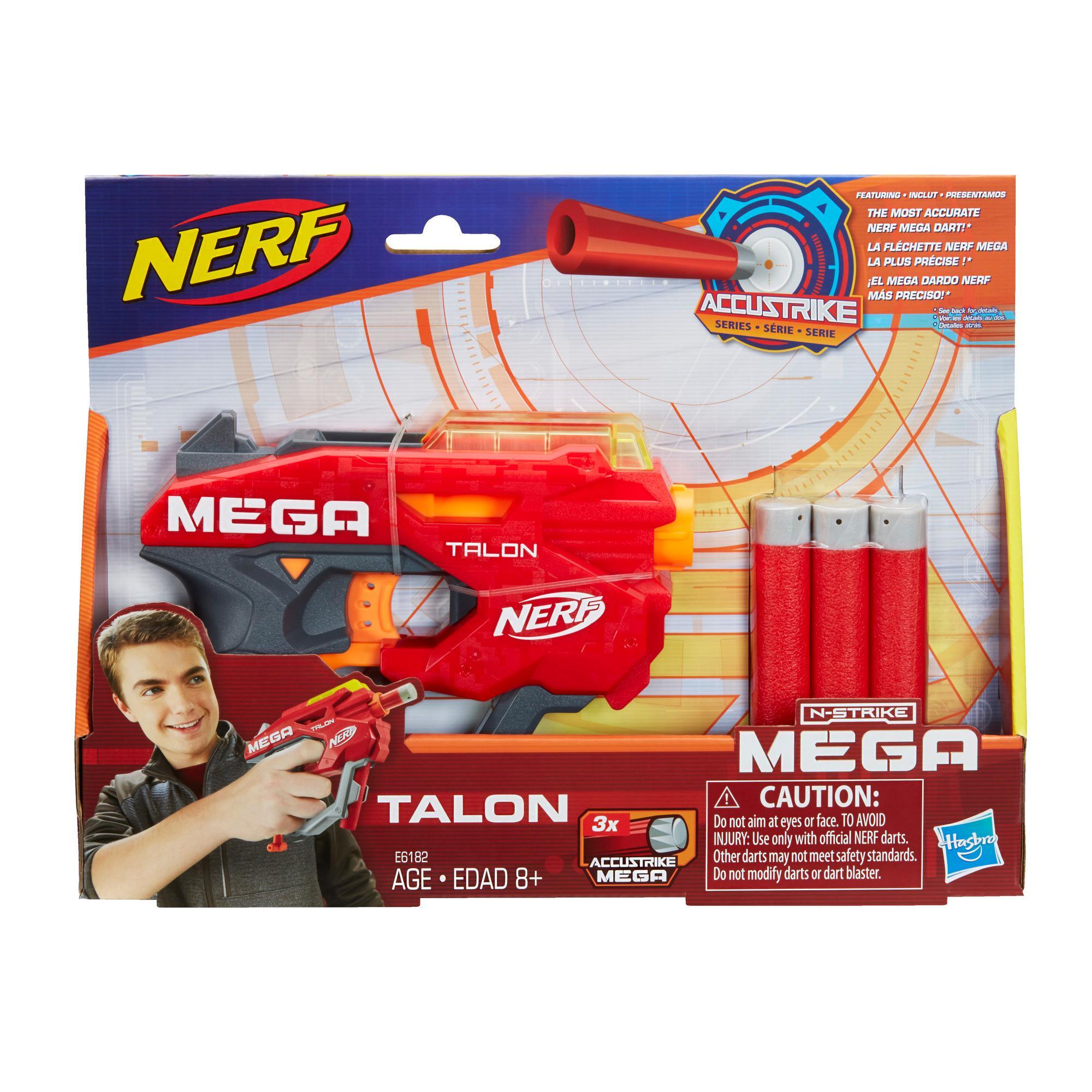 Nerf Mega Talon Blaster – enthält 3 AccuStrike Nerf Mega Darts – für Kinder, Teenager, Erwachsene