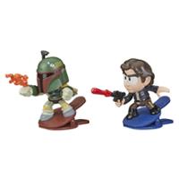 Star Wars Battle Bobblers Boba Fett Vs Han Solo Figuren 2er-Pack