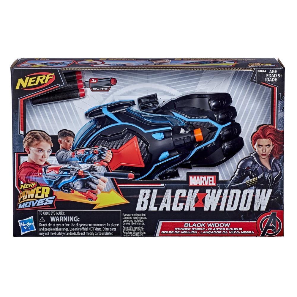 NERF Power Moves Marvel Black Widow Stinger Strike Blaster