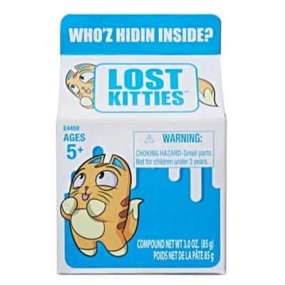 Lost Kitties Milchtüte mit Kätzchen