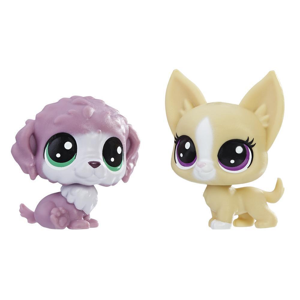 Littlest Pet Shop Mini-Tierpärchen Chunky Waterfluff und Mayor Perrito