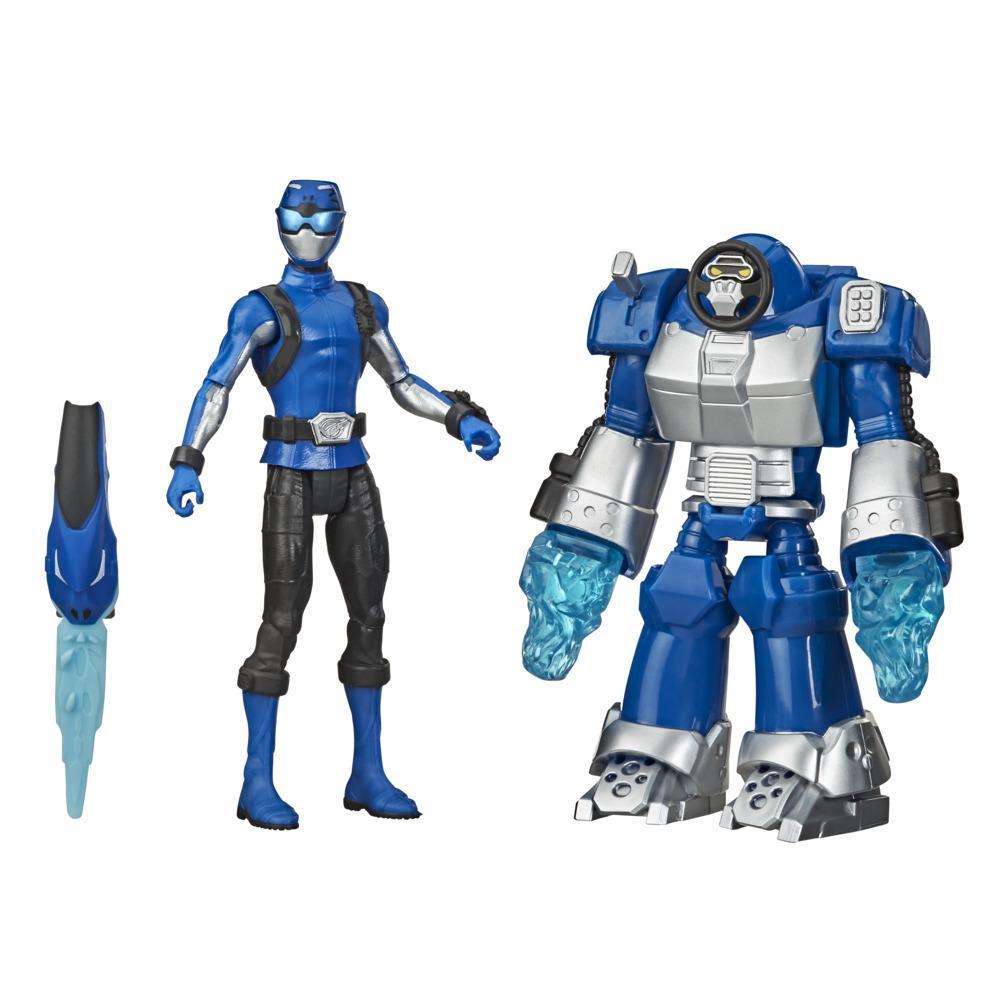 Power Rangers Beast Morphers Blauer Ranger und Smash Beastbot Figuren