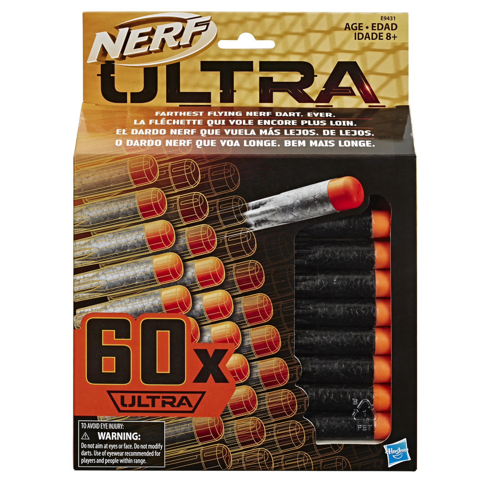 Nerf Ultra 60-Dart Nachfüllpack – der ultimative Nerf Dart Spaß – Nur mit Nerf Ultra Blastern kompatibel