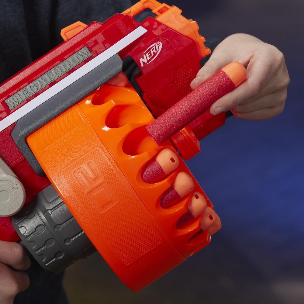 NERF Megalodon Nerf N-Strike Mega Blaster mit 20 Nerf Mega Whistler Darts