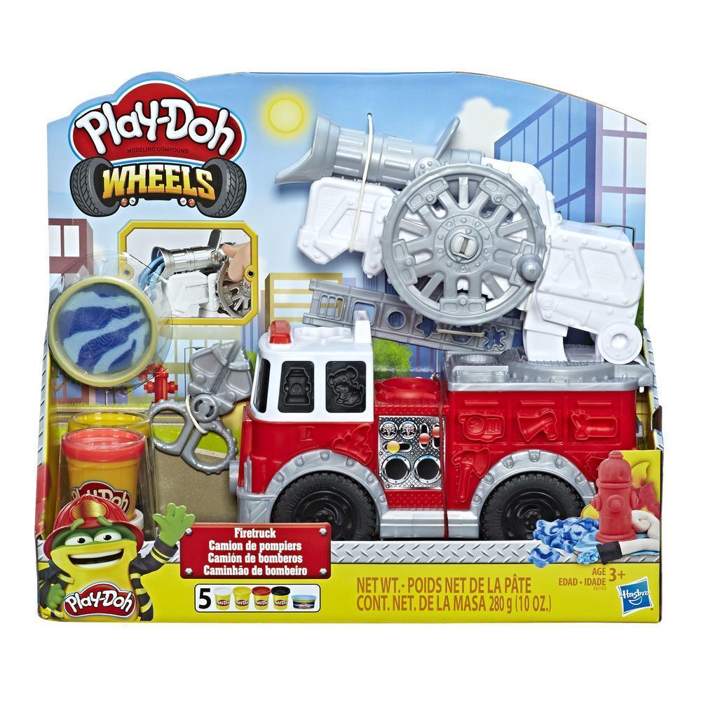 Play-Doh Wheels Feuerwehrauto Spielzeug mit 5 Dosen Play-Doh