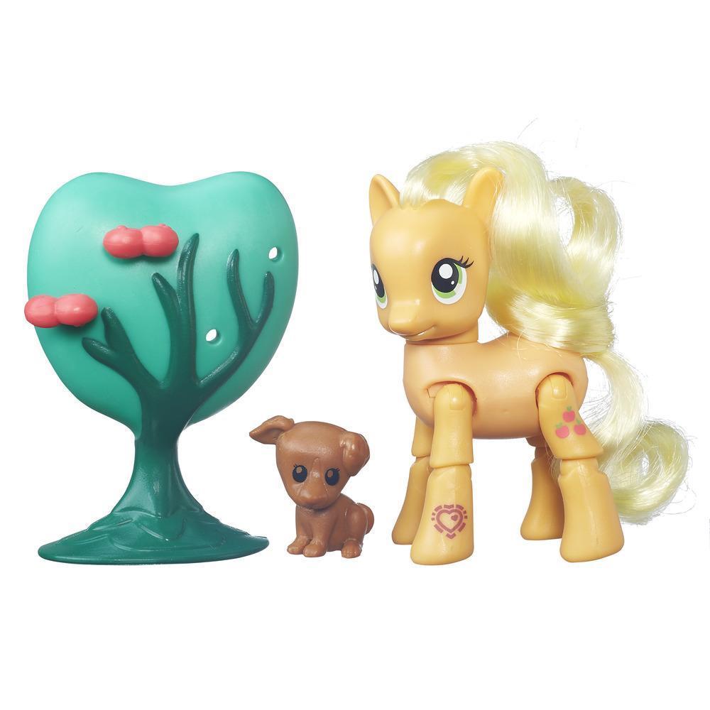 My Little Pony Bewegliche Ponys mit Zubehör Applejack