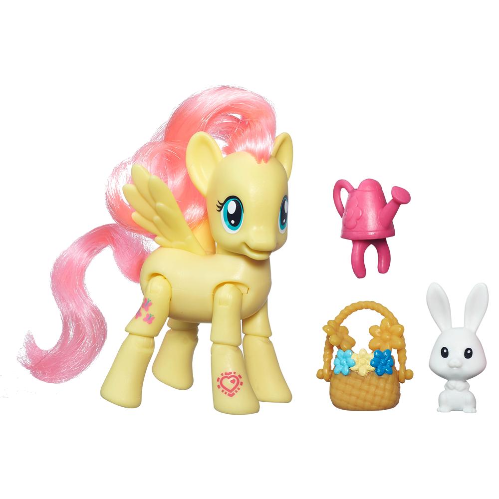 My Little Pony Bewegliche Ponys mit Zubehör Fluttershy