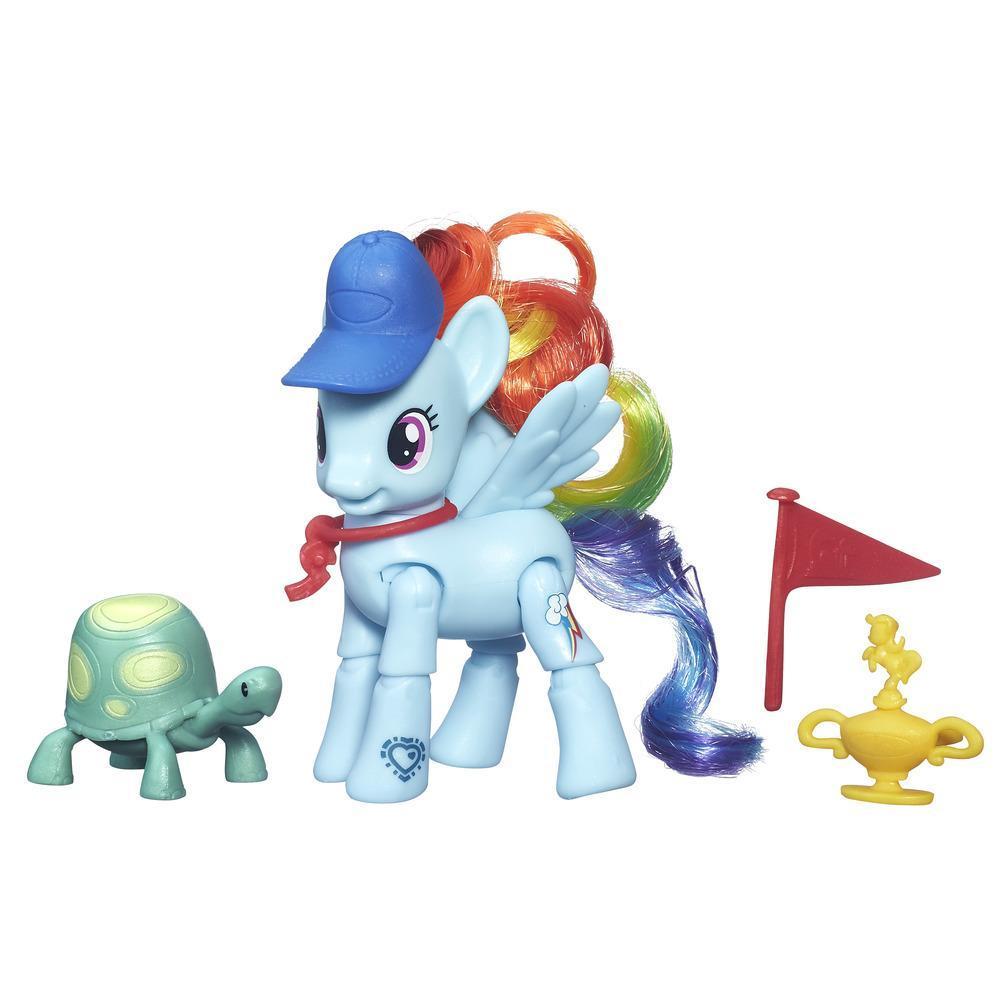 My Little Pony Bewegliche Ponys mit Zubehör Rainbow Dash