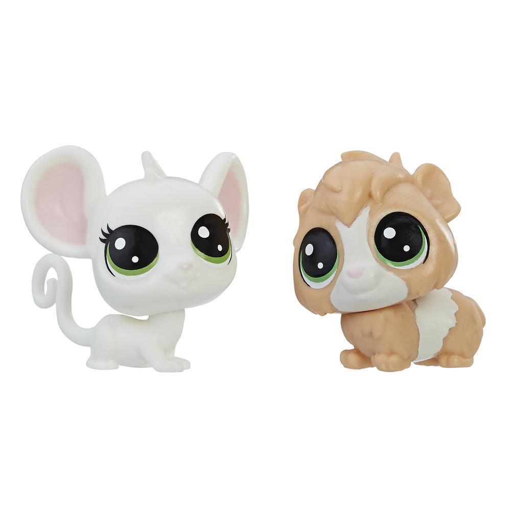 Littlest Pet Shop Mini-Tierpärchen Zoe Housemouse und Gunsey Pigson
