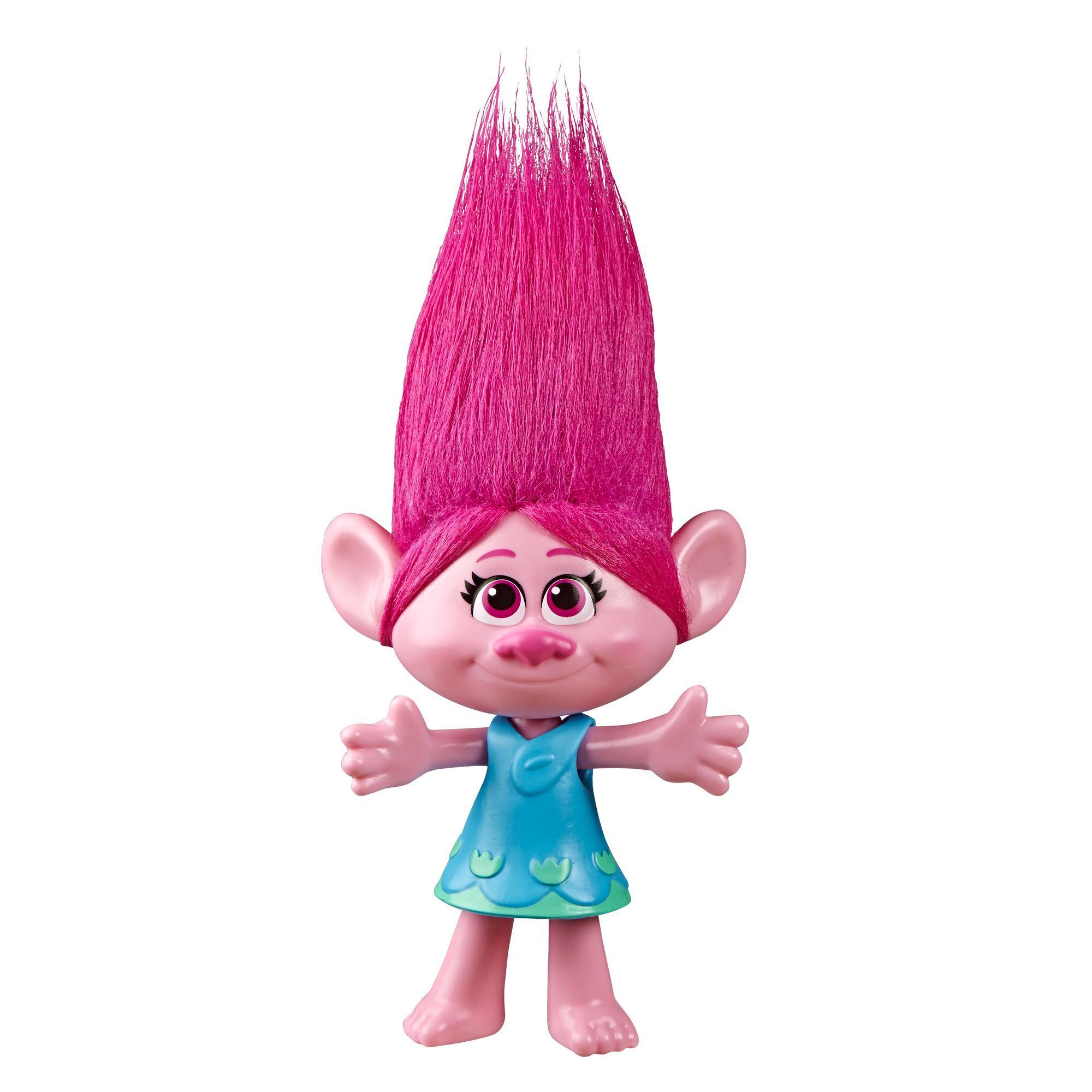 DreamWorks Trolls Poppy Puppe mit abnehmbarem Kleid, inspiriert vom Film Trolls World Tour, Spielzeug für Mädchen ab 4 Jahren