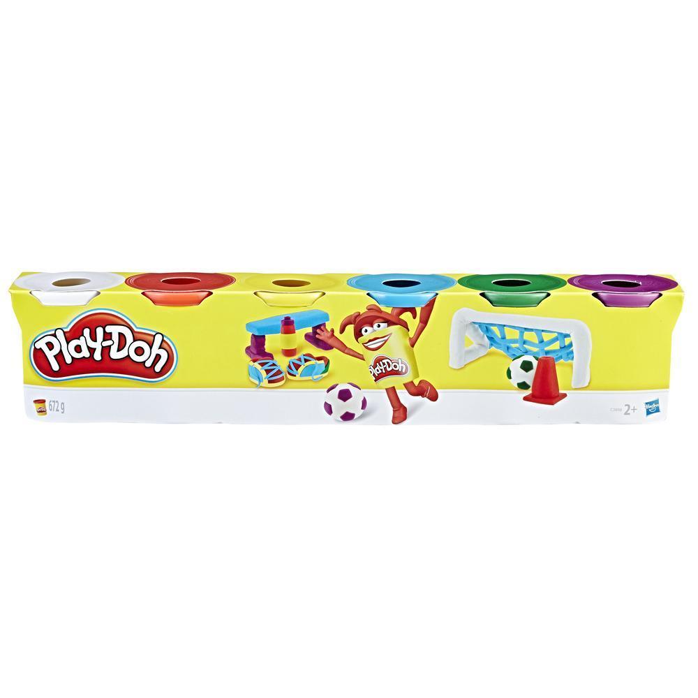 Play-Doh 6er Pack Knete Grundfarben