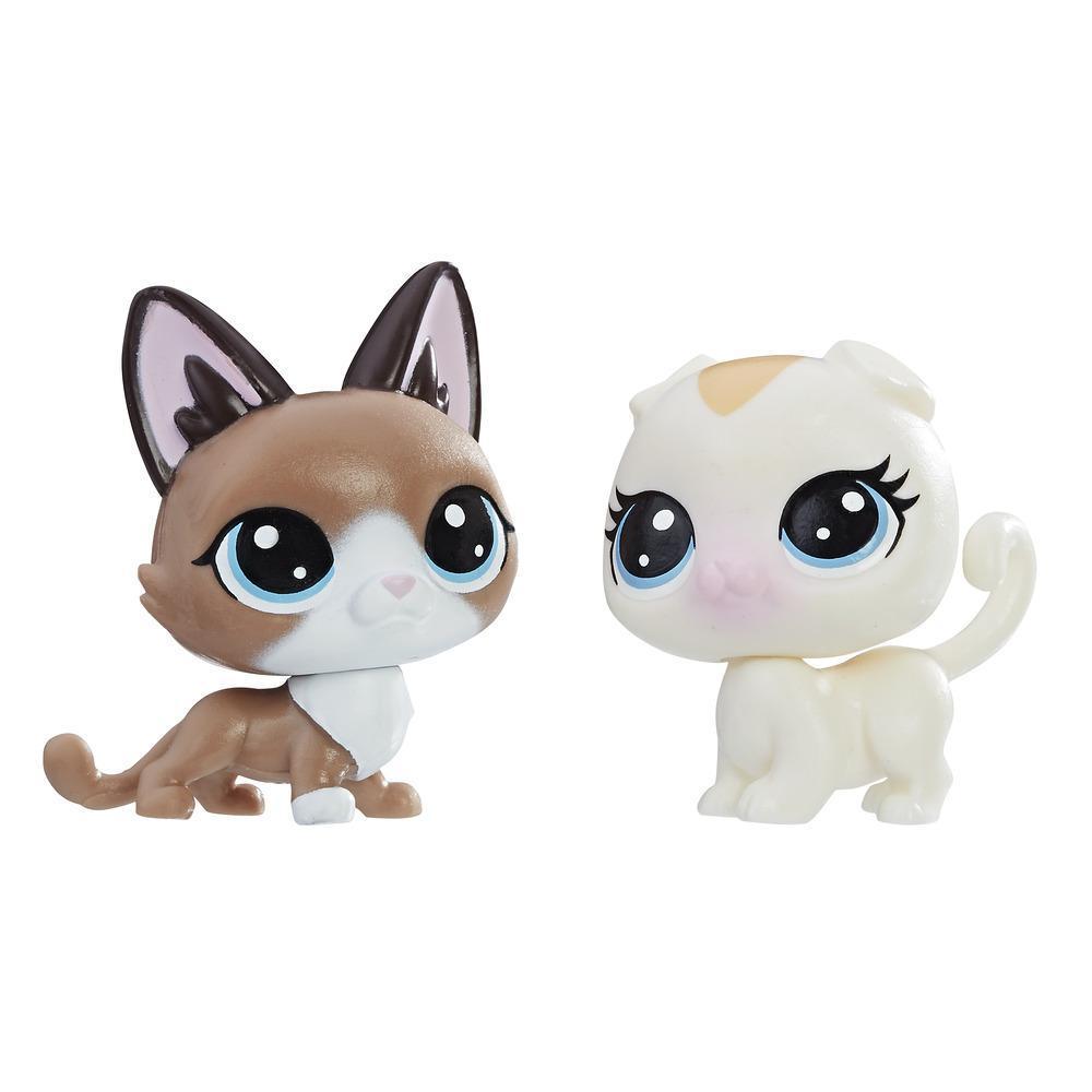 Littlest Pet Shop Mini-Tierpärchen Radar Snowcat und Bella Scotsfeld
