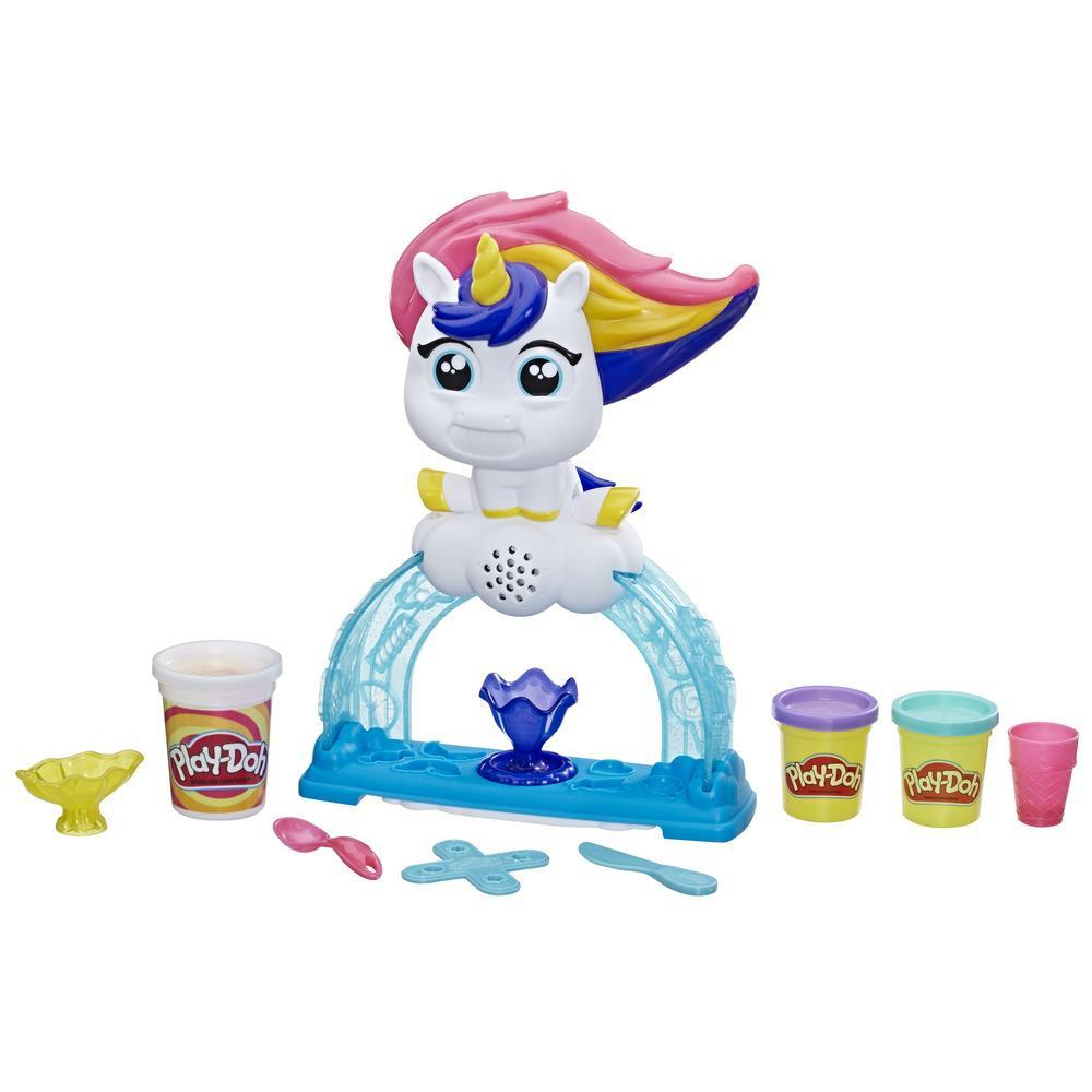 Play-Doh Buntes Einhorn Softeis-Set mit 3 Dosen Play-Doh