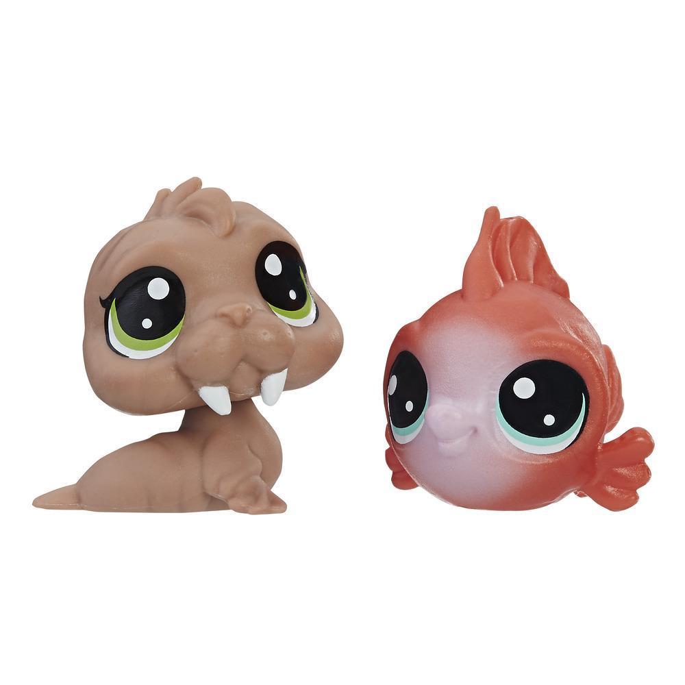 Littlest Pet Shop Mini-Tierpärchen Wally Walro und Eda Redfish