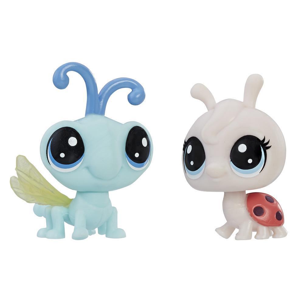 Littlest Pet Shop Mini-Tierpärchen Lynette Ladyfly und Cy Flydragon