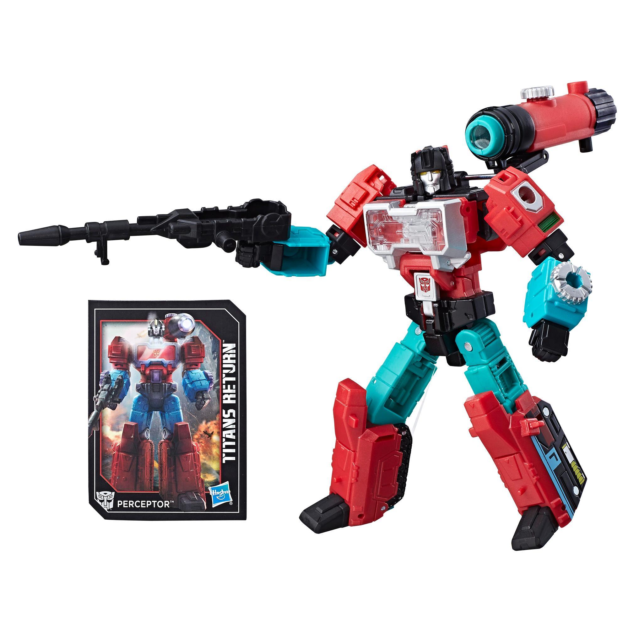 Transformers Generations Titans Return Deluxe Class Autobot Perceptor & Convex