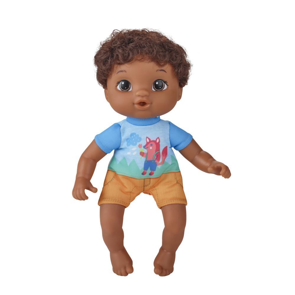 Littles by Baby Alive, Littles Squad, Little Simon, Black Hair Boy, 9-inch Doll with Comb, Toy for Kids Ages 3 and Up