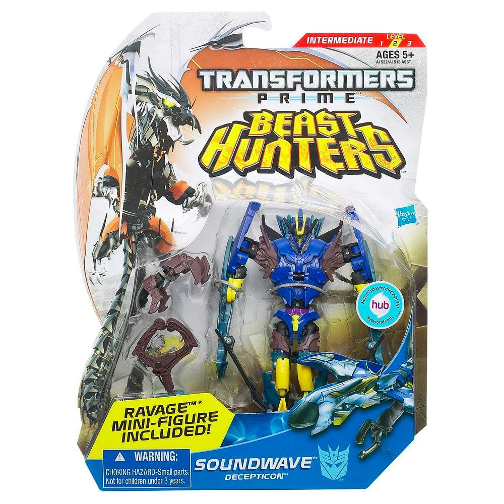 TRANSFORMERS PRIME DELUXE BEAST HUNTER SOUNDWAVE