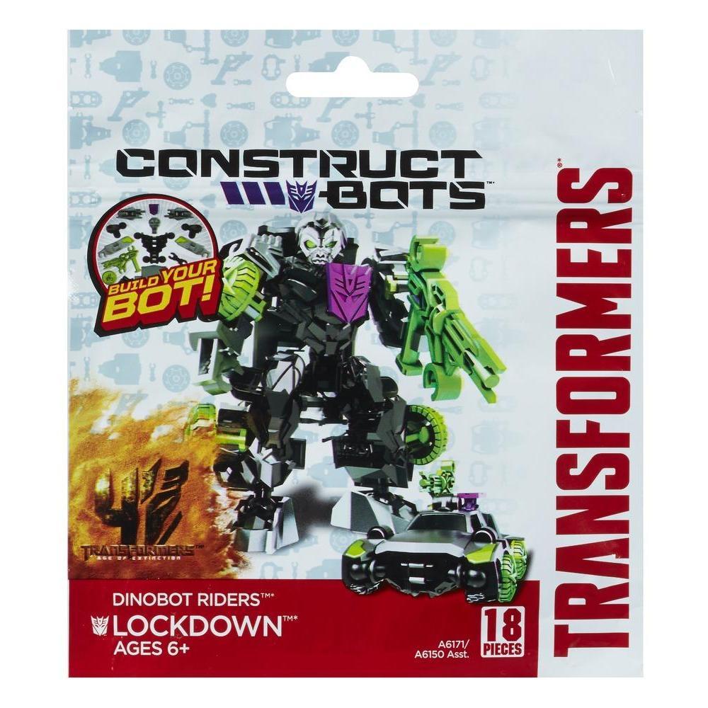 Transformers Age of Extinction Κατασκευάσιμα Ρομπότ Αναβάτες Dinobot Lockdown Κατασκευάσιμη Φιγούρα Δράσης