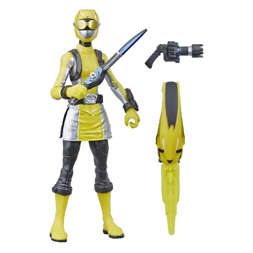 Power Rangers Beast Morphers Yellow Ranger 6-inch Action Figure Toy