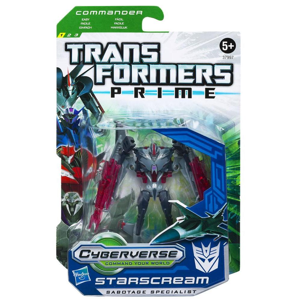 TRANSFORMERS PRIME CYBERVERSE COMMAND YOUR WORLD Commander Class Series 2 STARSCREAM Figure