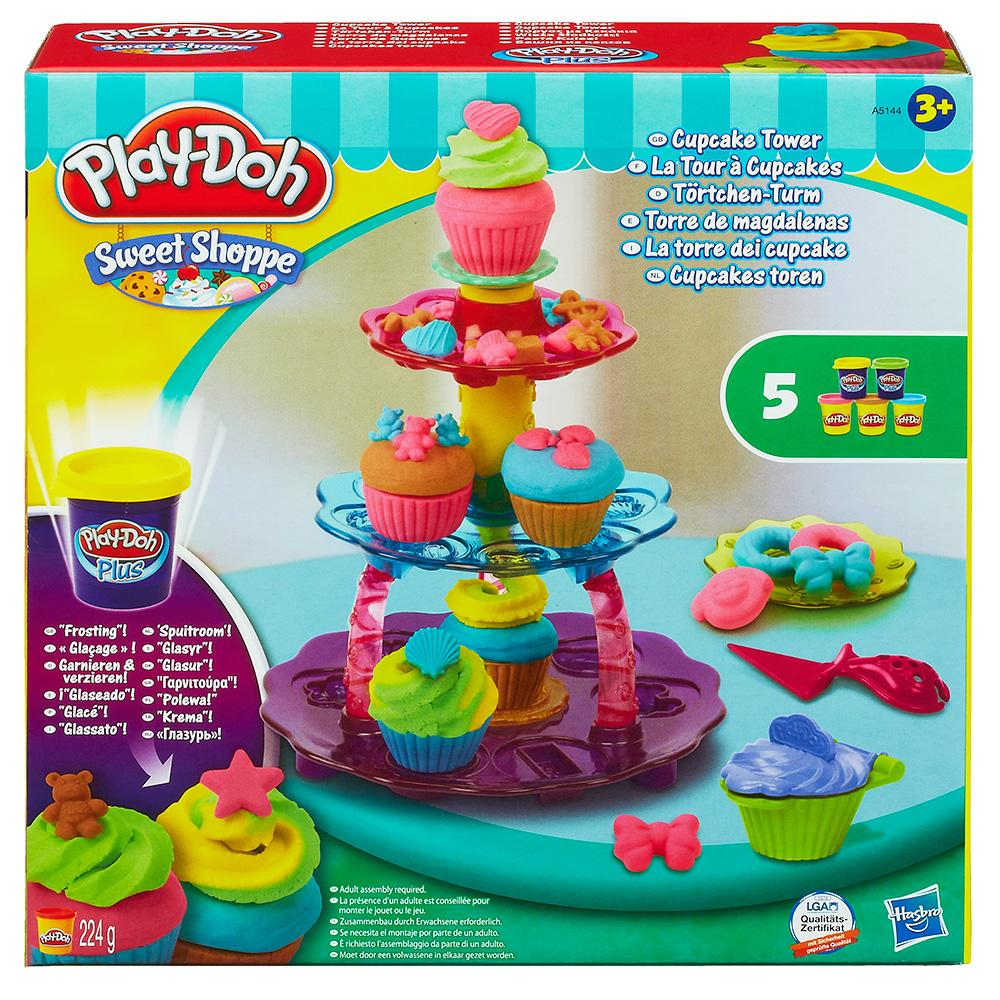 PLAY-DOH PYRGOS ME KEKAKIA-CUPCAKE TOWER