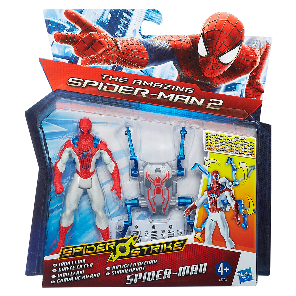 Marvel Amazing Spider-Man 2 Spider Strike Iron Claw Spider-Man Figure