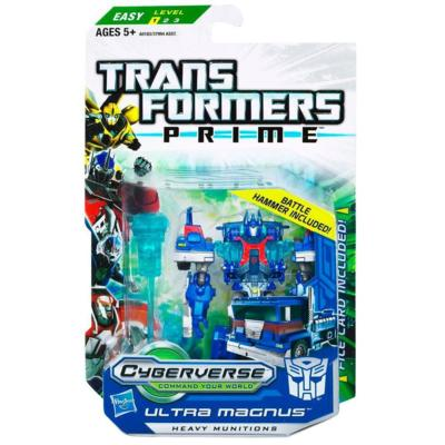 TRANSFORMERS PRIME CYBERVERSE COMMAND YOUR WORLD Commander Class Series 2 ULTRA MAGNUS Figure