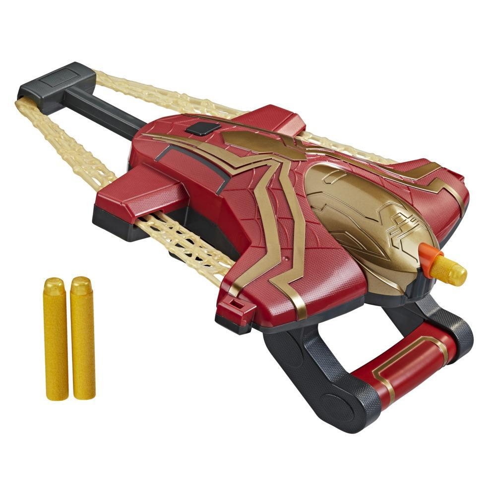 Marvel Spider-Man Web Bolt NERF Blaster Toy for Kids, Movie-Inspired Design, Includes 3 Elite Nerf Darts, Ages 5 and Up