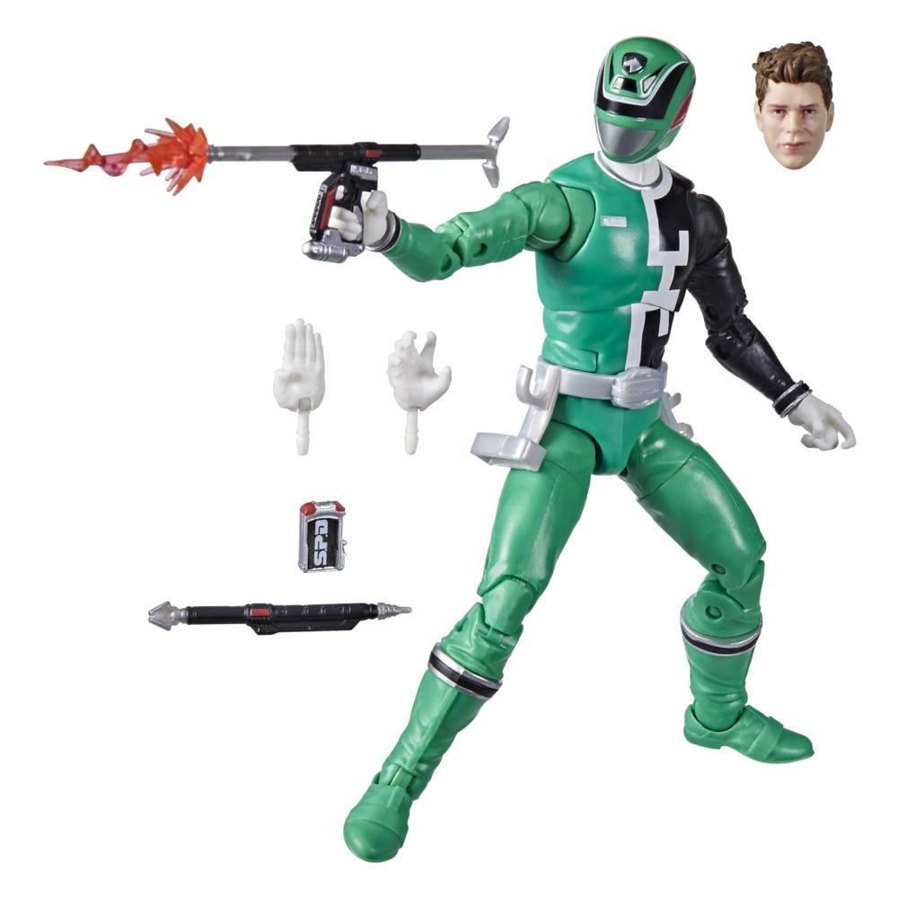 Power Rangers Lightning Collection S.P.D. Green Ranger 6-Inch Premium Collectible Action Figure Toy with Accessories