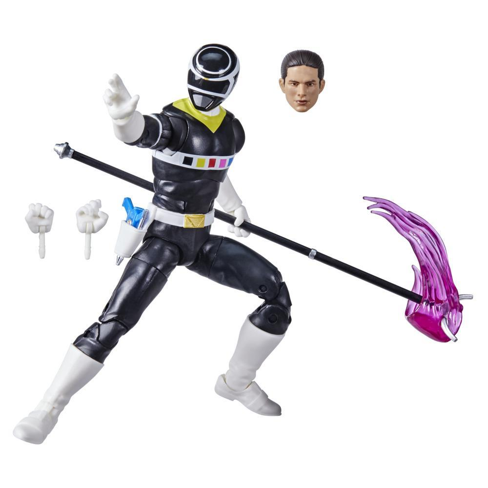 Power Rangers Lightning Collection In Space Black Ranger 6-Inch Premium Collectible Action Figure Toy with Accessories