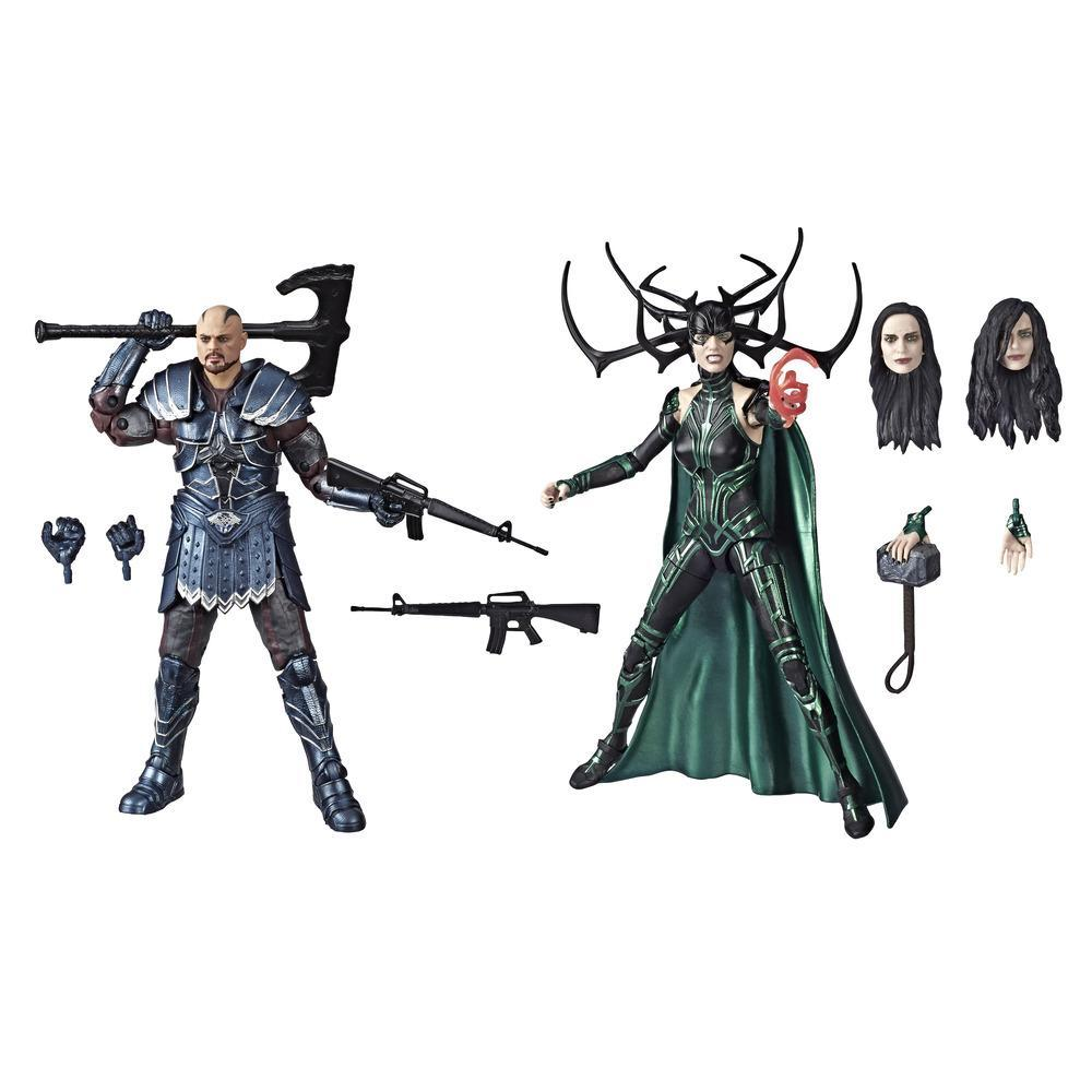 Marvel Legends Series Thor: Ragnarok 6-Inch-Scale Movie-Inspired Skurge And Marvel's Hela Collectible Action Figure 2-Pack