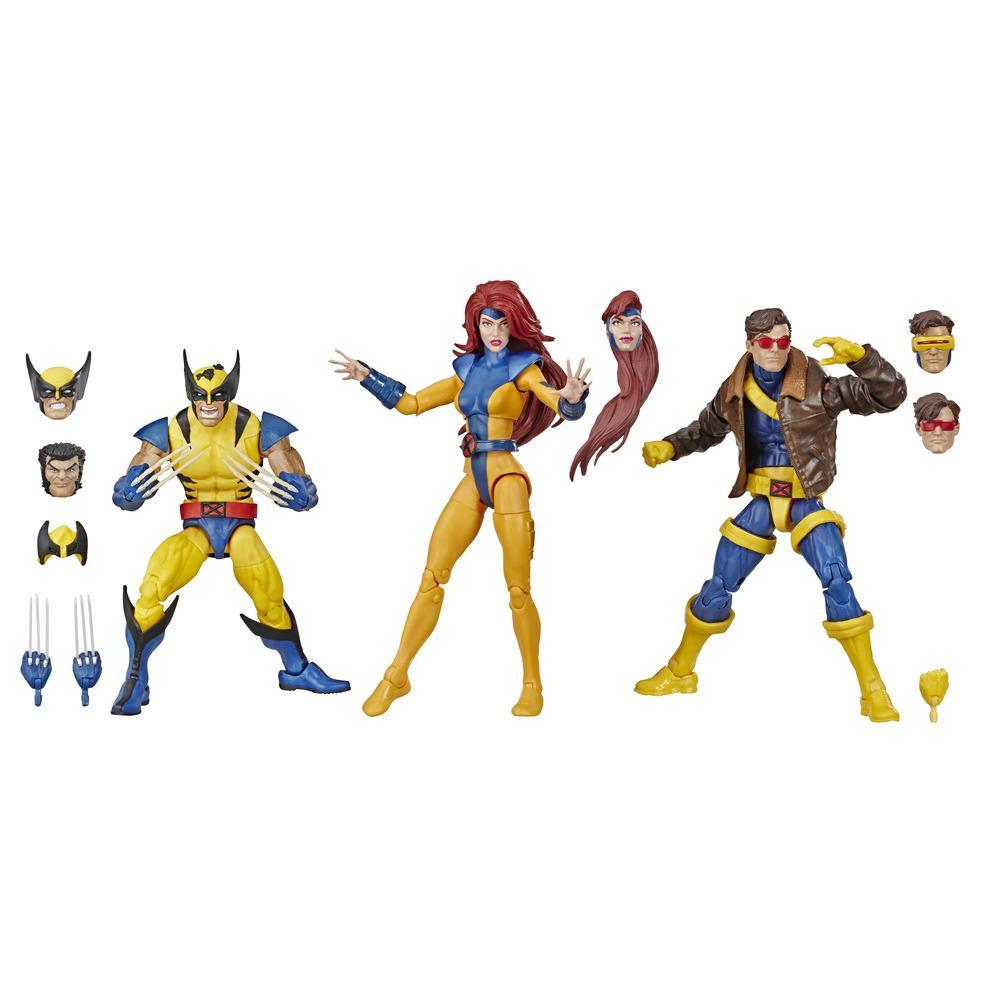 Hasbro Marvel Legends Series 6-inch Collectible Action Figures 3-Pack X-Men Toys, Wolverine, Jean Grey, Marvel's Cyclops