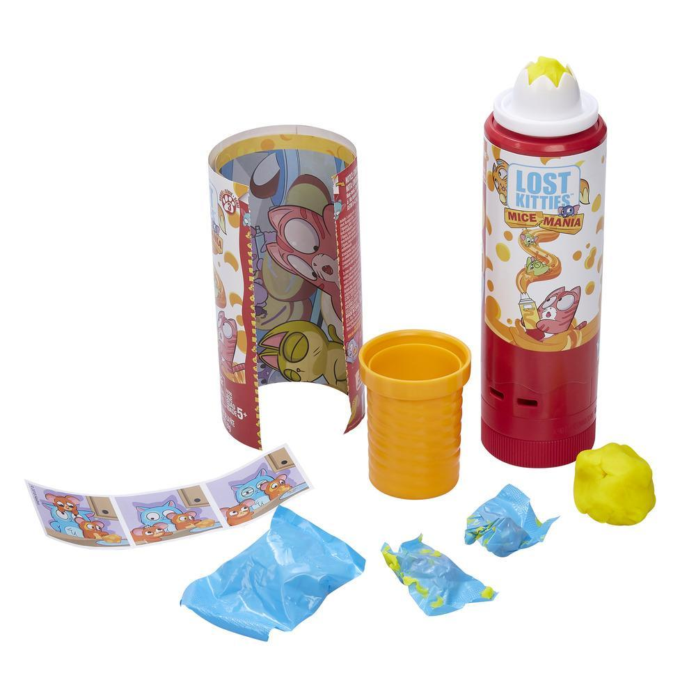 Lost Kitties Mice Mania Easy Squeeze Mice Can Toy, Series 3