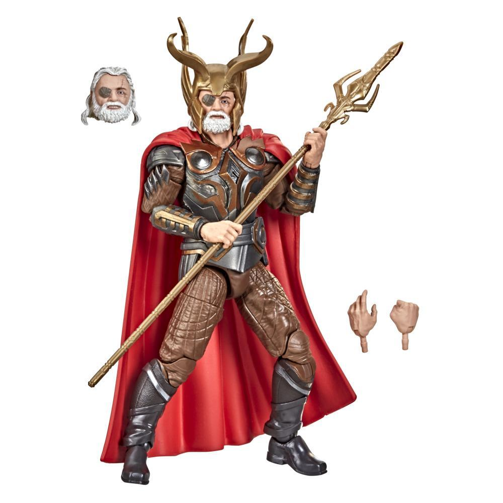 Hasbro Marvel Legends Series 6-inch Scale Action Figure Toy Odin, Includes Premium Design and 4 Accessories