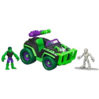 MARVEL Super Hero Adventures PLAYSKOOL HEROES MUD STORMIN' 4X4 with HULK & SILVER SURFER Vehicle Set