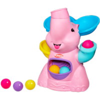 PLAYSKOOL POPPIN PARK PINK ELEPHANT BUSY BALL POPPER