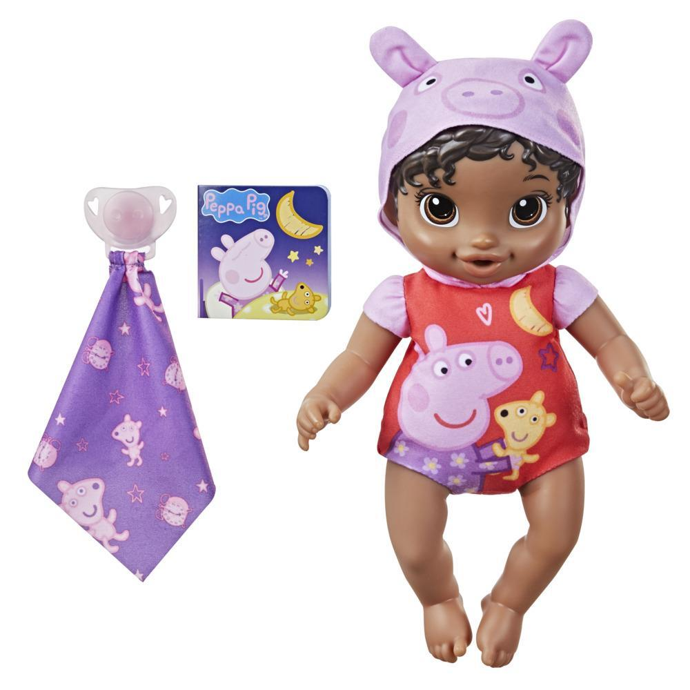 Baby Alive Goodnight Peppa Doll, Peppa Pig Toy, First Baby Doll, Soft Body, Kids Ages 2 Years and Up, Black Hair