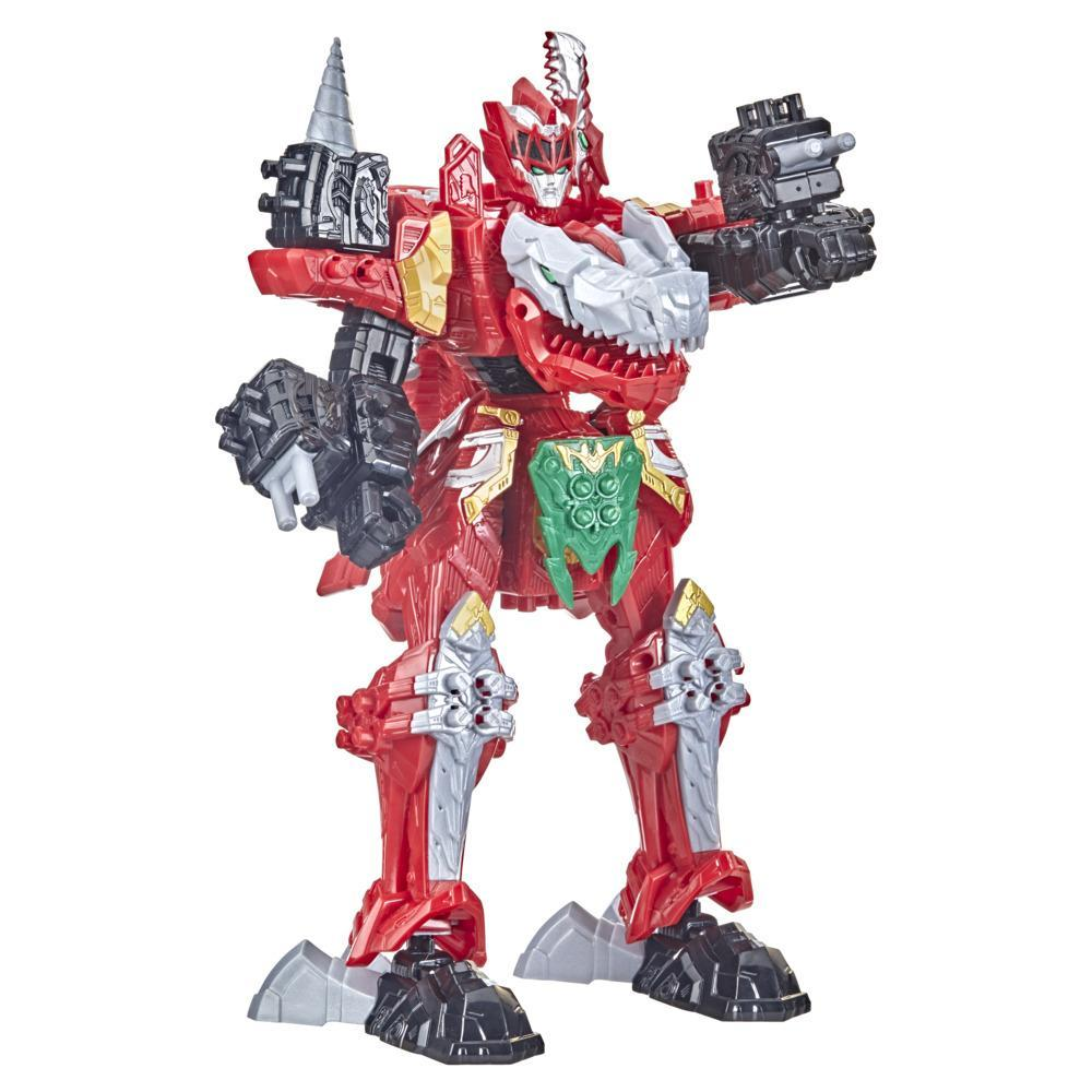 Power Rangers Dino Fury T-Rex Champion Zord Morphing Dino Robot with Zord Link Mix-and-Match Custom Build System