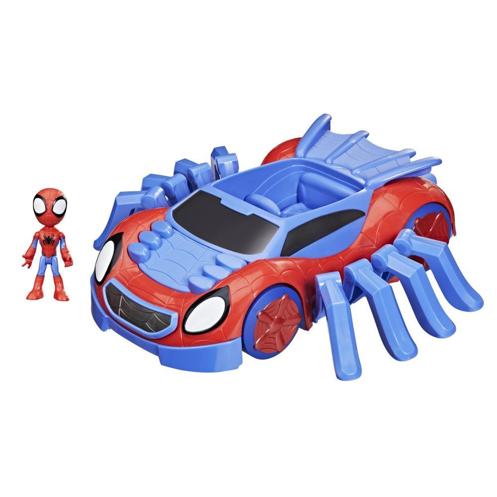 Marvel Spidey and His Amazing Friends Ultimate Web-Crawler, With Spidey Stunner Feature And 4-Inch Spidey Figure, Ages 3 And Up